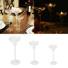 Clear Crystal Glass Candle Holder Romantic Wedding Party Home Decor Candlestick