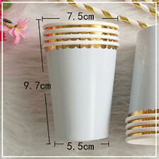 Wedding Tableware Party Hot Supplies Disposable 8pcs/Set Birthday Paper Cups