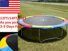 12FT - 15FT Trampoline Safety Pad EPE Foam Spring Cover Frame Replacement Sports