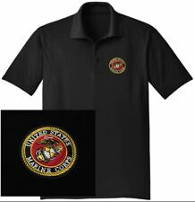US Marines Embroidered Moisture Wicking DRYFIT Polo HUGE SELECTION OF COLORS