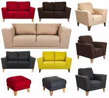 Anni Como Sofa 2 Seater, Arm Chair, Footstool Fabric Double Settee Couch Modern