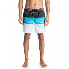 """Quiksilver Word Waves 17 """" Swimming Shorts Trunks Blue eqyjv03203"""