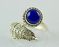 Lapis Lazuli Silver Ring 925 Solid Sterling Silver Handmade Jewelry Size 3-13 US