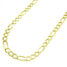 "14K Yellow Gold 3MM Italian Figaro Link Chain Charm Necklace 18"" - 24"" Inch"