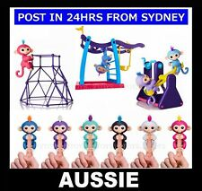 Finger Baby Monkey Electronic Interactive Motion Toy or Bar Swing Seesaw Playset