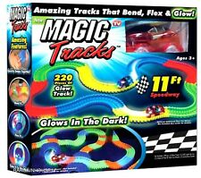 5 x sets GLOW IN THE DARK MAGIC TRACKS 220 Pcs LED LIGHT UP RACE CAR Racetrack