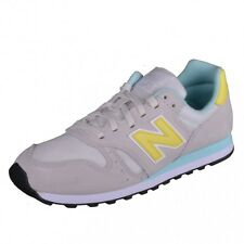 New Balance 373 Classics Traditionnels Runner Sneaker Grey Yellow Retro wl373gpg