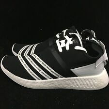 Adidas WM NMD R2 PK White Mountaineering Primeknit Boost Black White CG3648 New