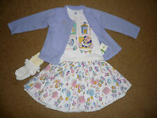 BNWT Baby Girls MINNIE MOUSE Pretty Cardigan Top Skirt Socks Outfit 3-6 months