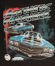 Aesthetic Finishers CHEVY Chevelle Muscle T-SHIRT - PRINTED IN THE USA - HOT ROD