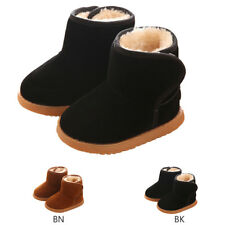 Infant Baby Toddler Warm Boots Kids Boys Girls Winter Snow Fur Slip-On Shoes US