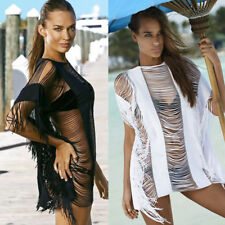 UK Womens Swimwear Bikini Beach Wear Cover Up Kaftan Ladies Summer Short Dress