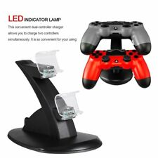 For PlayStation PS4 Dual Controller Charger Dock Station USB Charging Stand MS