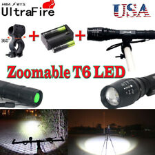 20000LM Zoom XMLT6 LED 5Mode Flashlight Torch Lamp+18650battery+charger+clip USA