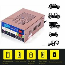 12V 24V Motorcycle Car Battery Charger Lead Acid Emergency Charging LCD Display