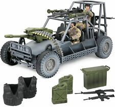 Military Desert Patrol Vehicle Play Set 2 Soldiers Action Figures & Accessories