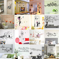 Flower Letter Tree Wall Stickers Removable Decal Home Decor DIY Art Decoration