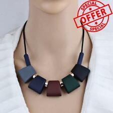 Women Necklace Statement Necklaces & Pendants Colorful Wood Beads Necklace 2018