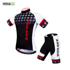 Mens Cycling Bike Clothing Set Quick Dry Sports Jersey Breathable Padded Shorts