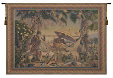 King Borne Old World Colors Belgian Woven Tapestry Wall Hanging Home Decor Art