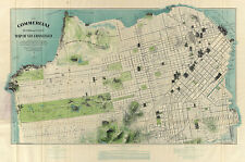 Pictorial 1904 San Francisco Map Tourist Commercial Vintage History Wall Poster