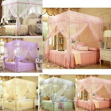 Lace Princess 4 Corner Post Bed Canopy Luxury Mosquito Netting Or Frame(Post)