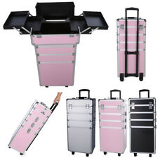 7 In 1 Professional Cosmetics Beauty Case Bags Makeup Box Organiser Trolley Bag