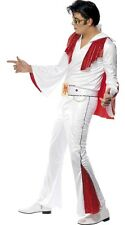 Mens Sequinned Elvis 1950s 50s Celebrity Musician Fancy Dress Costume Outfit M-L