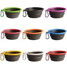 1Pcs Pet Dog Cat Silicone Collapsible Travel Feeding Bowl Dish Water Food Feeder