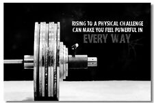Poster Bodybuilding Men Girl Fitness Workout Quotes Motivational Font Print 010