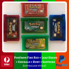 Pokemon GBA Games *AUS* (Emerald, Fire Red, Leaf Green, Ruby, Sapphire)
