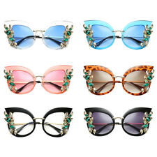Women Fashion Luxury Flower Cat Eye Sunglasses Gradient Sun Glasses Eyewear