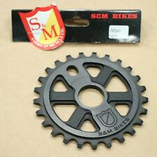 S&M BMX BIKE X-MAN BICYCLE SPROCKET BLACK MADE IN USA FIT CULT ODYSSEY