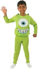 Boys Monsters Inc Deluxe Mike Green Monster Halloween Fancy Dress Costume Outfit