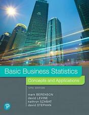 Basic Business Statistics by Mark L. Berenson Hardcover Book Free Shipping!