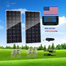 200W Solar Panel Kit 2x 100W off Grid System for 12V RV Boat Battery Charger