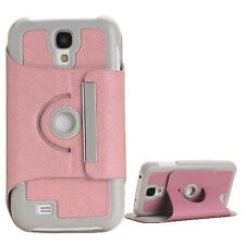 Leather 360 Rotatable With Holder Case Cover For Samsung Galaxy S4 S IV I9500 UK