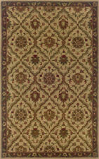 Beige Traditional - Persian/Oriental Vines Leaves Border Area Rug All-Over 23111