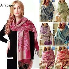 Fashion Womens Ladies Floral Flower Pattern Long Pashmina Soft Scarfs Wrap Shawl