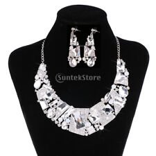 Wedding Bride Jewelry Set Lady Fashion Earrings & Necklace Bridal Jewely Set