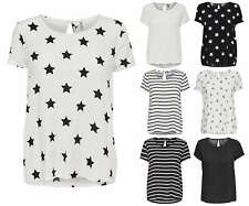 Ladies T-Shirt Blouse onlfirst Top Tunic Stars Dots Stripes Birds Hearts
