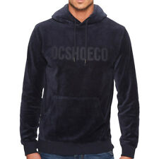 "DC Shoes ""Maytown"" Zip Up Hoodie (Dark Indigo) Men's Velvet Velour Fleece Jacket"