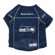NEW SEATTLE SEAHAWKS DOG PET PREMIUM ALTERNATE JERSEY w/NAME TAG LE