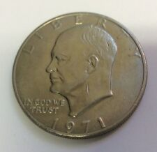 Nice 1971 P Eisenhower IKE One Dollar Coin Large $1 Raw Coin In Sleeve NR!