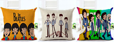 The Beatles Retro Ribbon Cartoon Music Vintage Throw Cushion Pillow Cover Gift