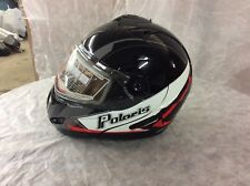 NEW Polaris® Modular Snowmobile Helmet w/Electric Shield Retro Black Red 2865069