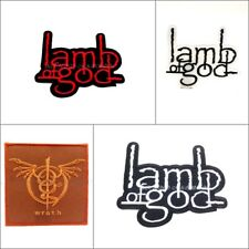 Lamb Of God Sew On Patch Iron Embroidered Rock Band Heavy Metal Music Logo Badge