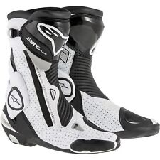 Alpinestars SMX Plus Vented Motorcycle Boots Black/White