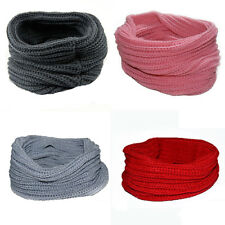 Women Men Winter Knitted Scarf Shawl Neckerchief Wraps Fashion Solid Color Creat