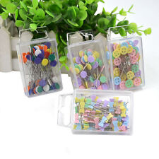 100X Patchwork Pins Flower Button Head Pins DIY Quilting Tool Sewing Acc Mos